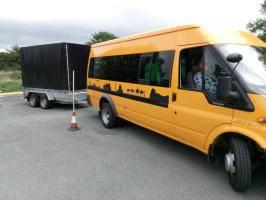 D1 Minibus with trailer