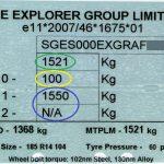 Caravan weight plate MLPM