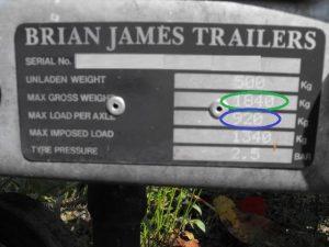Trailer weight plate MAM & GTW